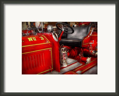 Fireman - Fire Engine No 3 Framed Print By Mike Savad