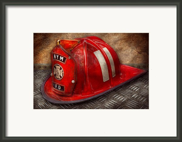 Fireman - Hat - A Childhood Dream Framed Print By Mike Savad