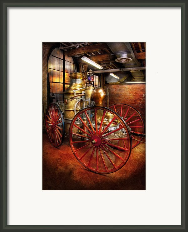 Fireman - One Day A Long Time Ago  Framed Print By Mike Savad