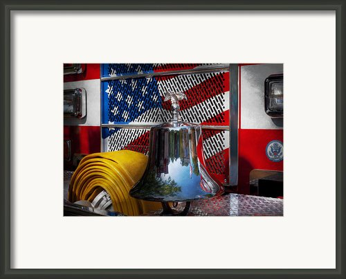 Fireman - Red Hot  Framed Print By Mike Savad