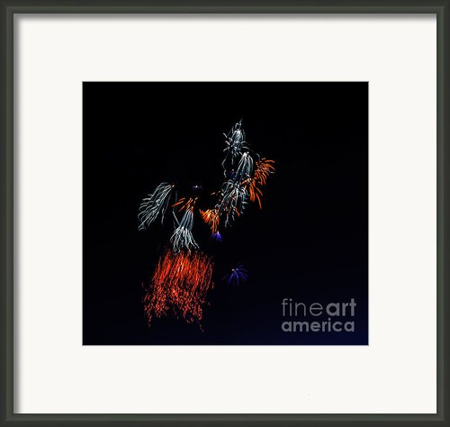 Fireworks Abstract Framed Print By Robert Bales