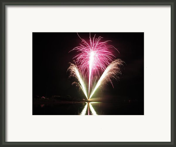 Fireworks At Cooks Framed Print By Donnie Freeman