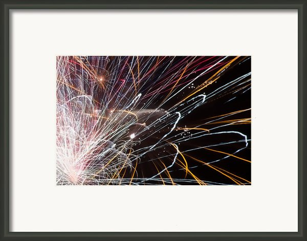 Fireworks Cropped Framed Print By Carl Clay