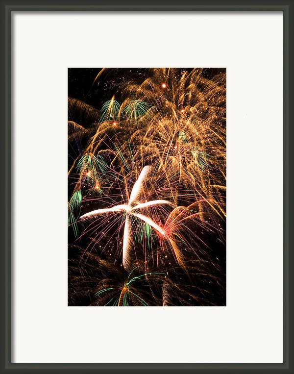 Fireworks Exploding Everywhere Framed Print By Garry Gay