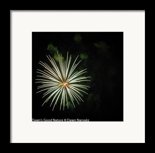 Fireworks Over The Lake 32 Framed Print By Dawn