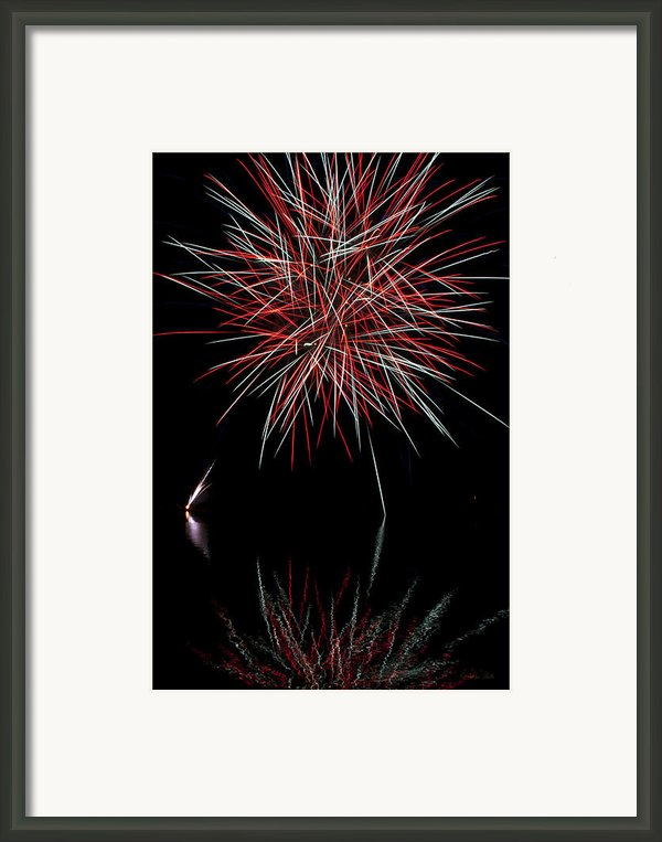 Fireworks Rockets Red Glare Framed Print By Christina Rollo