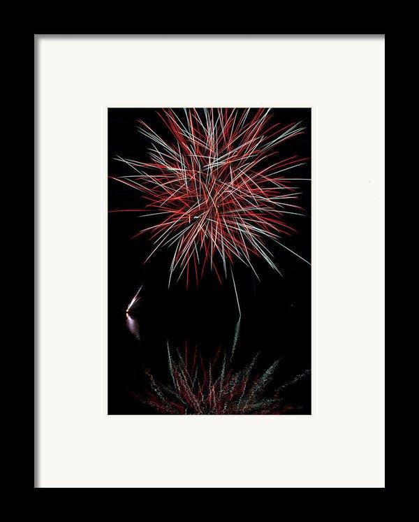 Fireworks Rockets Red Glare Framed Print By Christina Rollo