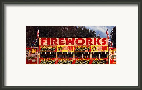 Fireworks Framed Print By Ron Regalado