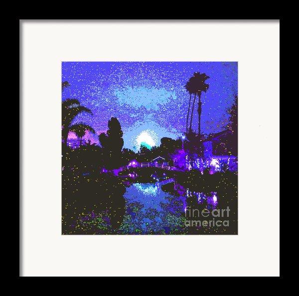 Fireworks Venice California Framed Print By Jerome Stumphauzer