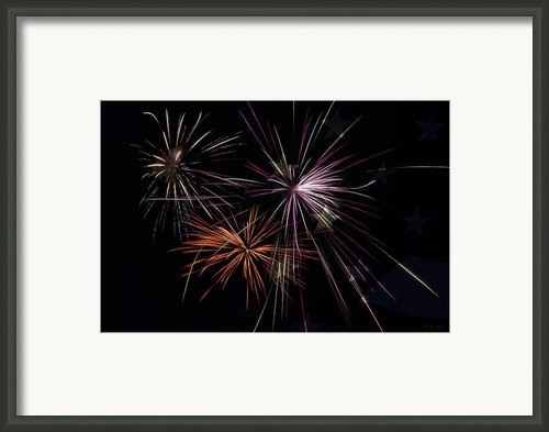 Fireworks With Pride Framed Print By Christina Rollo
