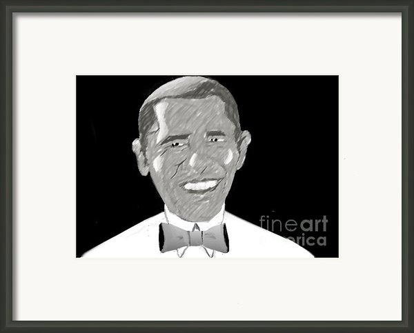 First African American President Framed Print By Belinda Threeths