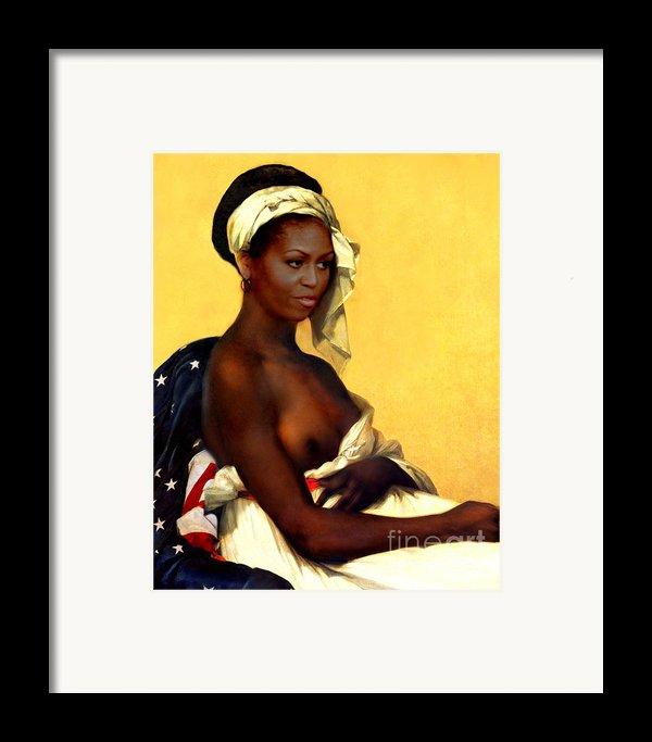 First Lady Framed Print By Karine Percheron-daniels