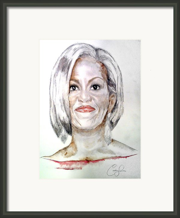 First Lady O Framed Print By Courtney James