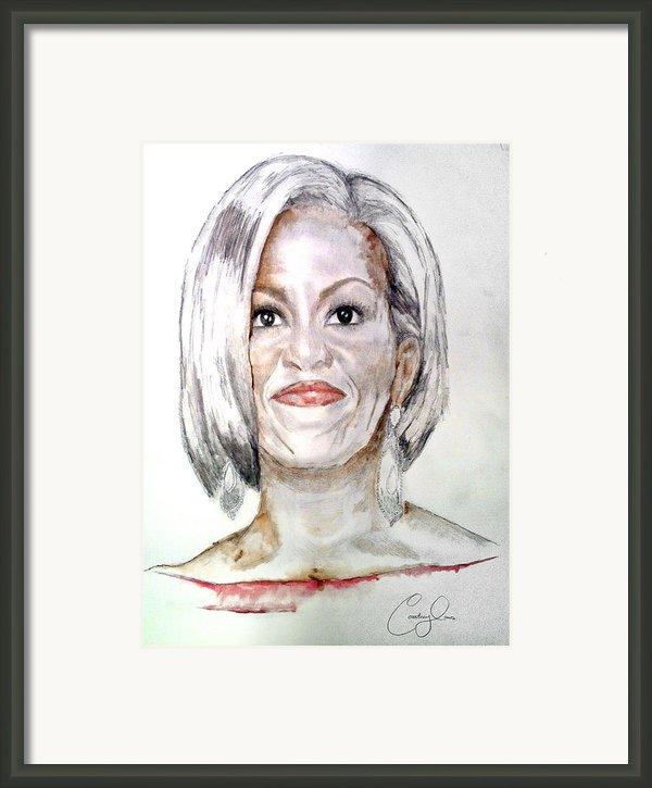 First Lady O Framed Print By Courtney James