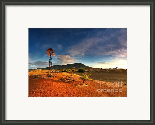 First Light On Wilpena Pound Framed Print By Bill  Robinson