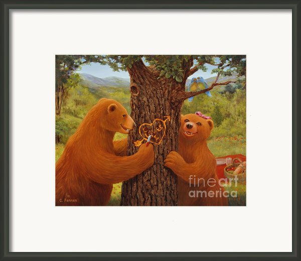 First Love Framed Print By Charles Fennen