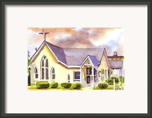 First Presbyterian Church Ironton Missouri Framed Print By Kip Devore