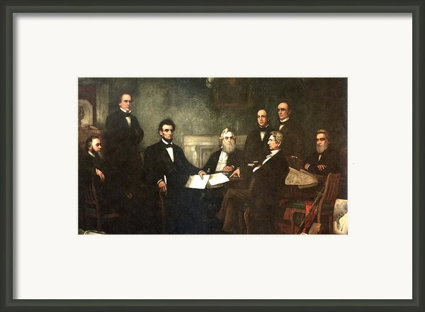First Reading Of The Emancipation Proclamation Of President Lincoln Framed Print By Nomad Art And  Design