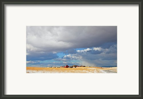 First Snow On Storybook Farm Framed Print By Theresa Tahara