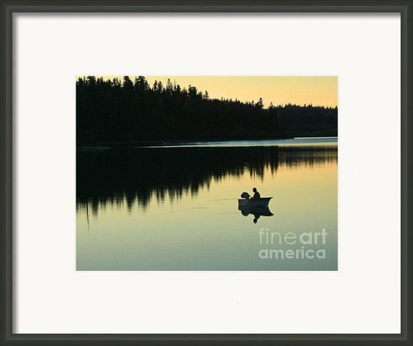 Fisherman At Dusk Framed Print By Nancy Harrison