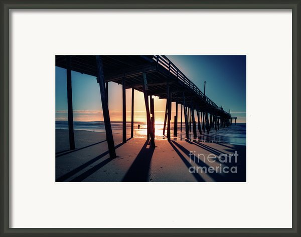 Fishing At Frisco Outer Banks Framed Print By Dan Carmichael