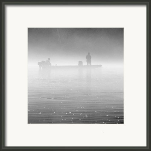 Fishing In The Fog Framed Print By Mike Mcglothlen