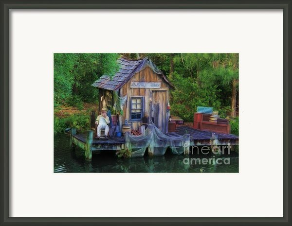 Fishing On The Bayou Framed Print By Lee Dos Santos