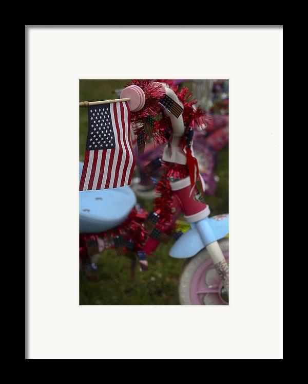 Flag Bike Framed Print By Patrice Zinck