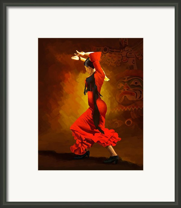 Flamenco Dancer 0013 Framed Print By Catf