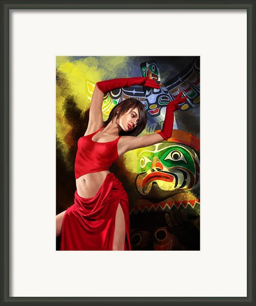 Flamenco Dancer 010 Framed Print By Catf