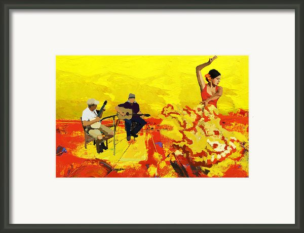 Flamenco Dancer 018 Framed Print By Catf