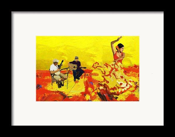 Flamenco Dancer 018 Framed Print By Catf