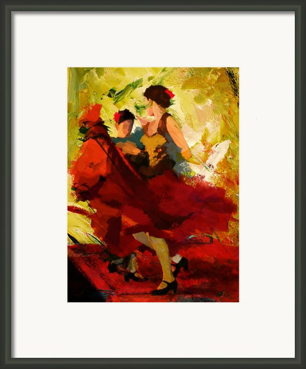 Flamenco Dancer 019 Framed Print By Catf