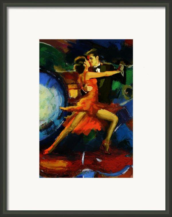 Flamenco Dancer 029 Framed Print By Catf