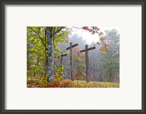 Flax Creek In The Fog Framed Print By Debra And Dave Vanderlaan