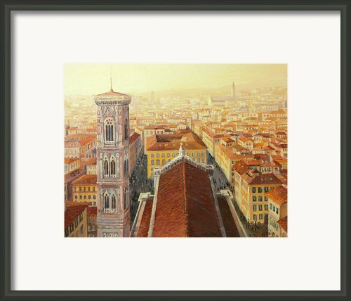 Flight Over Florence Framed Print By Kiril Stanchev