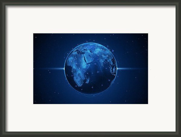 Flights And Earth Framed Print By Sanely Great