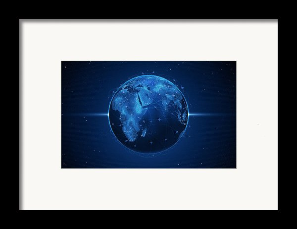 Flights And Earth Framed Print By Gianfranco Weiss