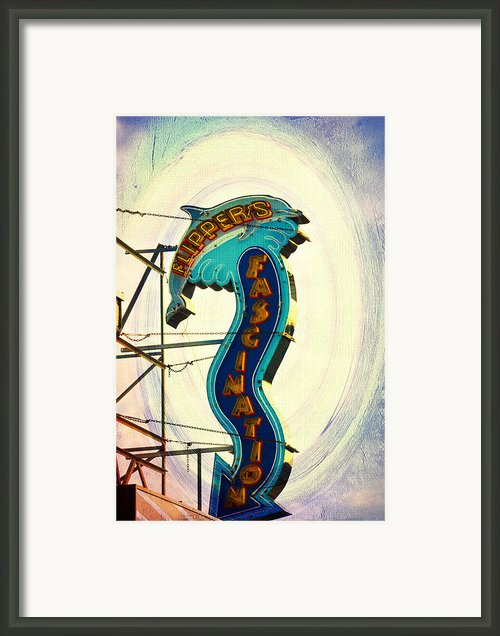 Flippers Facination - Wildwood Boardwalk Framed Print By Bill Cannon