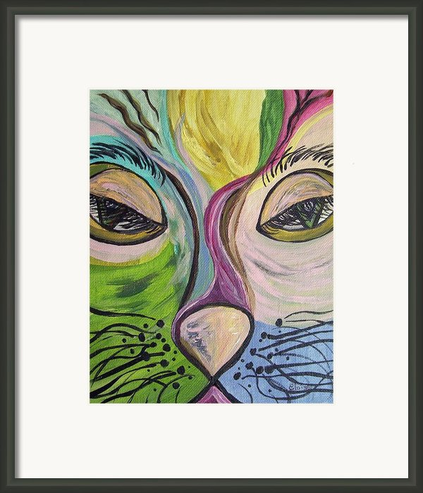 Flirty Feline ... Cat Eyes Framed Print By Eloise Schneider