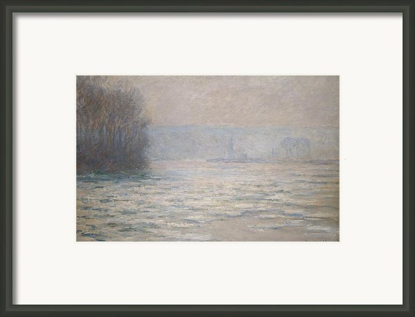 Floods On The Seine Near Bennecourt Framed Print By Claude Monet