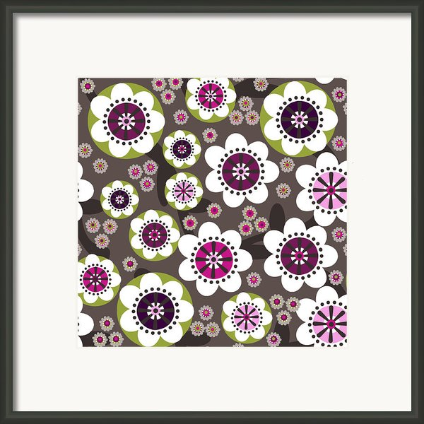 Floral Grunge Framed Print By Lisa Noneman