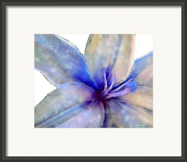 Floral Series - Lily Framed Print By Moon Stumpp