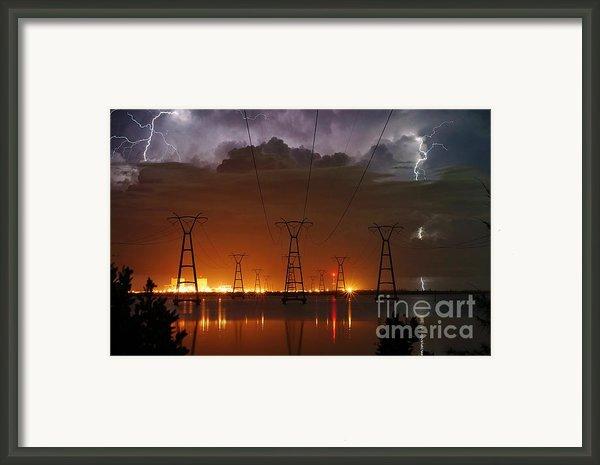 Florida Power And Lightning Framed Print By Lynda Dawson-youngclaus