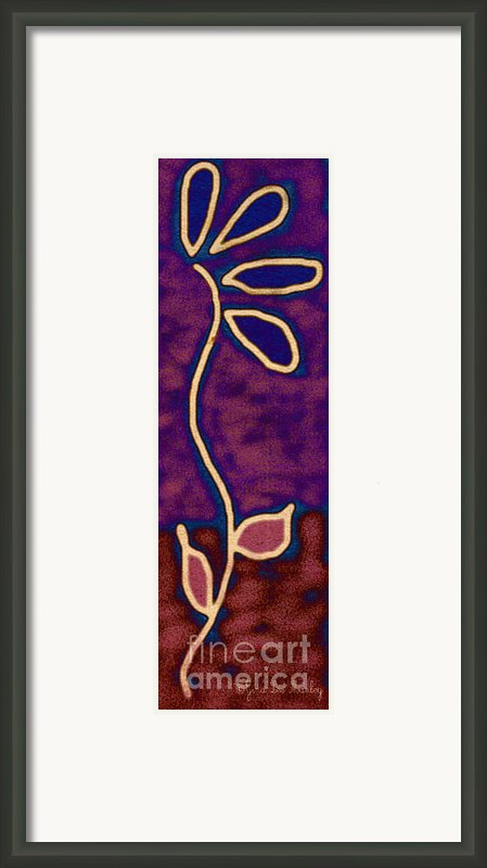 Flower Of Artistic Liberty Framed Print By Gina Manley