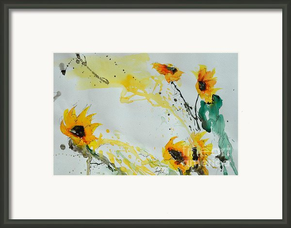 Flower Power- Sunflower Framed Print By Ismeta Gruenwald