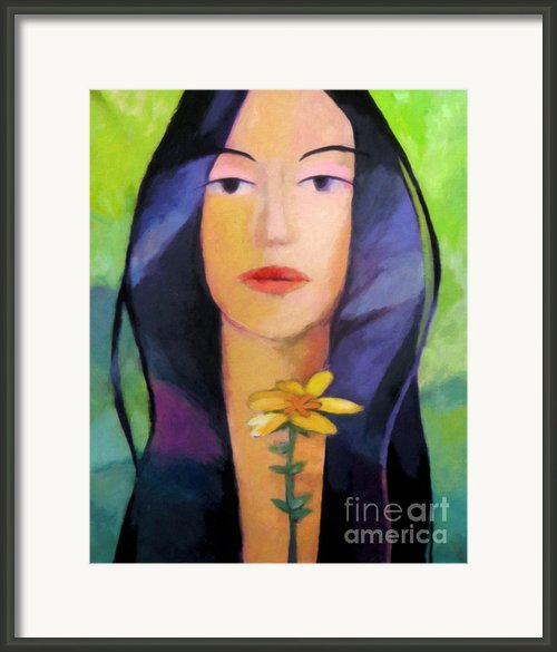 Flower Woman Framed Print By Lutz Baar