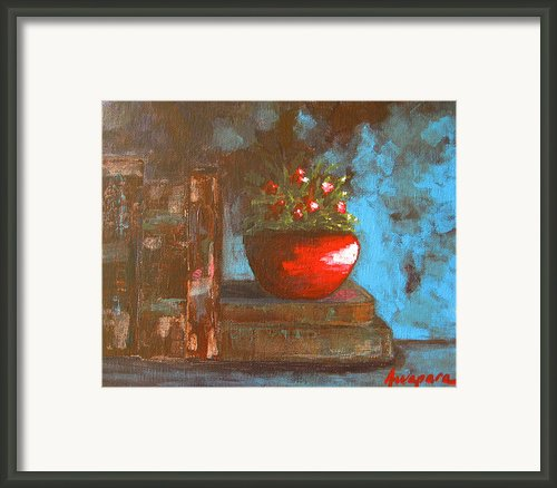 Flowers And Books Framed Print By Patricia Awapara