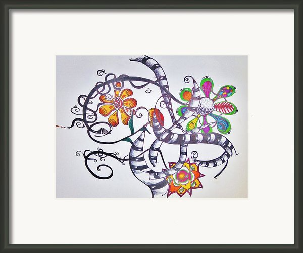 Flowers And Such Framed Print By Lori Thompson
