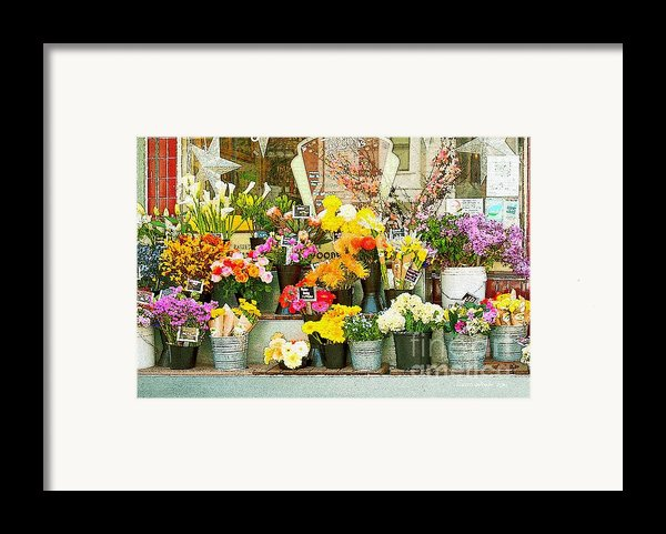 Flowers At The Bi-rite Market In San Francisco  Framed Print By Artist And Photographer Laura Wrede